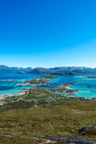 Sommaroy in Troms, Norway,. Sommaroy, a populated island located about 36 kilometres west of the city of Tromso in the western part of Troms county, Norway stock image