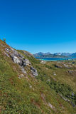 Sommaroy in Troms, Norway,. Sommaroy, a populated island located about 36 kilometres west of the city of Tromso in the western part of Troms county, Norway stock images
