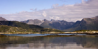 Sommaroy, Tromso county, Norway, landscape. Sommaroy, Tromso county, northern Norway royalty free stock images