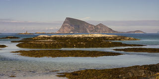 Sommaroy, Tromso county, Norway, landscape. Sommaroy, Tromso county, Northern Norway royalty free stock photos