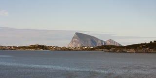 Sommaroy Tromso län, Norge, landskap Fotografering för Bildbyråer
