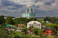 Sommarpanorama av Smolensk arkivfoton