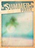 Sommarparadisbakgrund Arkivfoto