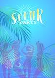 Sommarpartireklamblad Arkivbild