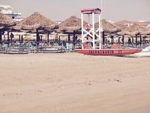 SommarPescara strand Italien Royaltyfria Bilder