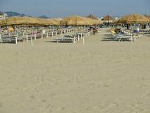 SommarPescara strand Italien Royaltyfri Foto