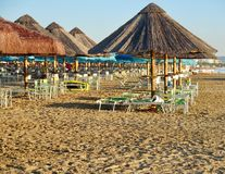 SommarPescara strand Italien Fotografering för Bildbyråer