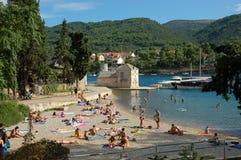 Sommarsemester i Kroatien Arkivfoton