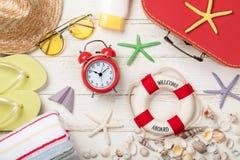 Sommarsemester och loppbakgrund Arkivfoton