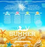 Sommarsemester och loppdesign royaltyfri illustrationer