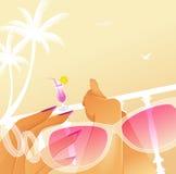 sommarsemesterkvinna vektor illustrationer