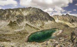 Sommarsikt av de höga Tatra bergen Royaltyfri Fotografi