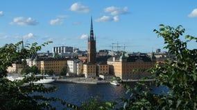 SOMMARSIKT AV STOCKHOLM, RIDDARHOLMEN lager videofilmer