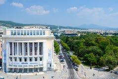 Sommarsikt från det vita tornet på Thessaloniki, Grekland Royaltyfri Bild