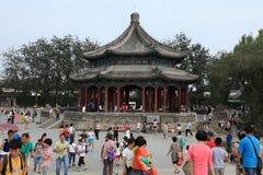 Sommarslott av Bejing i Kina Arkivbilder