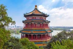 Sommarslott av kejsaren av Kina Arkivfoto