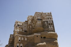 Sommarslott på Wadi Dhar Royaltyfri Bild