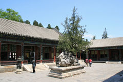 Sommarslott - Peking - Kina Arkivbilder