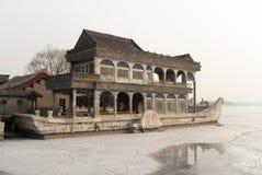Sommarslotten marmorerar fartyget under vinter arkivfoto