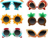 Sommarsolglasögonuppsättning 1 stock illustrationer