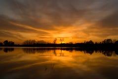 sommarsolnedgång Fotografering för Bildbyråer