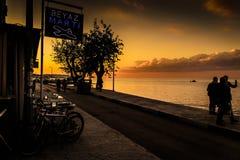 Sommarstad i Turkiet med konstigt väder Arkivfoton