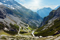 SommarStelvio passerande (Italien) Royaltyfri Fotografi