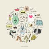 Sommarstil Kvinnasommarkläder vektor illustrationer