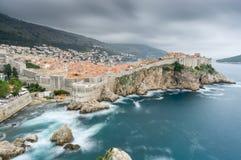 Sommarstorm över Dubrovnik Fotografering för Bildbyråer