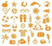 Sommarsymboler Arkivfoton