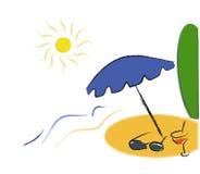 sommartid stock illustrationer