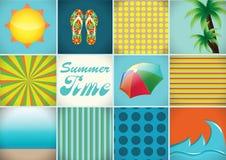 Sommartid Vektor Illustrationer