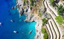 Sommartid i den Capri ön, Italien Arkivfoton