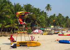 Sommartid i den Goa stranden Royaltyfria Bilder