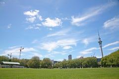 Sommartid i Victoria Park, Auckland Royaltyfri Foto