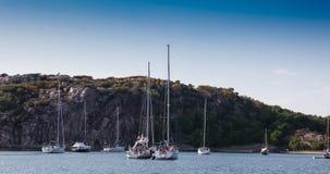 Sommartid på svenskkust Arkivbild