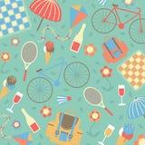 Sommartidsemestrar och resande bakgrund Arkivfoto