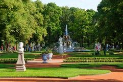 Sommarträdgård i Stet Petersburg Arkivfoto
