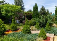 Sommarträdgårddesign Royaltyfria Bilder