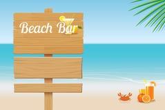 Sommarträtecken på tropisk strandbakgrund Royaltyfri Fotografi