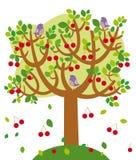 sommartree stock illustrationer