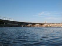 SommarUkraina Dnepr flod Zaporozhye Arkivbilder