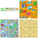 Sommaruppsättning vektor illustrationer