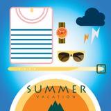 Sommarvaation Fotografering för Bildbyråer