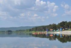 Sommarvattenlandskap Royaltyfria Foton