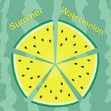 Sommarvattenmelon Arkivbild