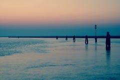 SommarVenedig strand Italien Royaltyfri Fotografi