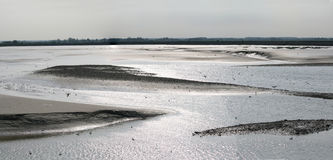 Somme Bay. The Somme Bay in northern west France at low tide royalty free stock photos