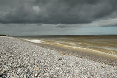 Somme bay in France. Somme bay, le Hourdel in Picardie region of France royalty free stock photos