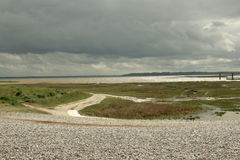 Somme bay in France. Somme bay, le Hourdel in Picardie region of France stock photos